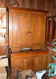 Impressive Primitive Dry Sink Kitchen Cupboard