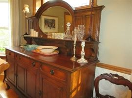 Gorgeous antique buffet with mirror