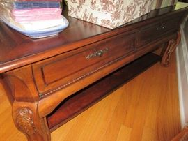 coffee table w/ drawers/ matching end table