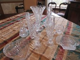 Lots of Waterford and other crystal