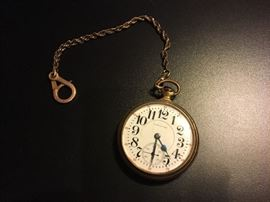 Hamilton Pocket Watch Double Roller 21 jeweled, late 1910s