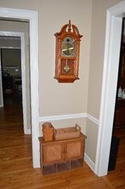 Wall Clock, Bathroom Wall Cabinet, Baskets