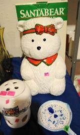 J.L. Hudson Santa Bear Cookie Bear Jar