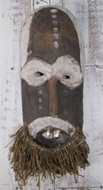 Vintage African Wood Tribal mask with Human Teeth