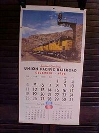 1966 Union Pacific RR calendar