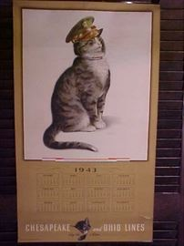 Chesapeake & Ohio lines RR calendar 1943
