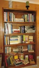 Lots of books....art & culture, philosophy, music, hymnals, plant, repair, novels and more.