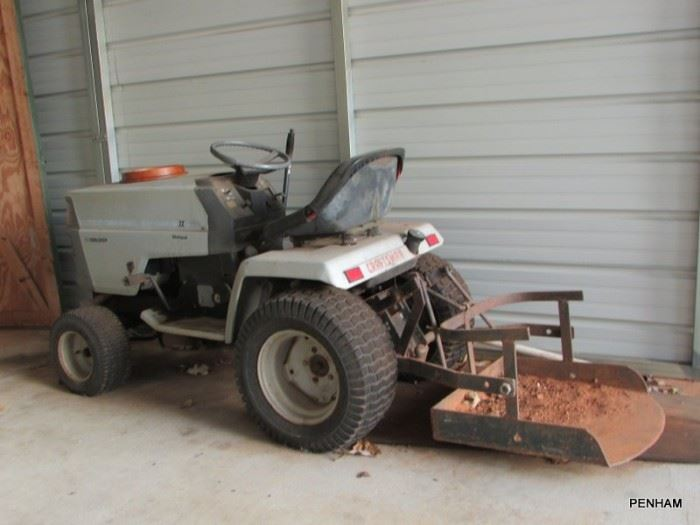 Craftsman garden tractor more, additional attachments available. Hasn't been used in almost a year.  Probably will need slight tune up.