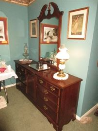 Double dresser, matching wardrobe and queen bed