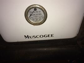 Muscogee antique wood burning stove