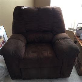 Brown rocker recliner