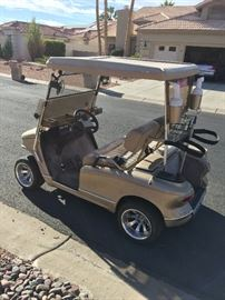 2009 Western Golf Cart   Clean title  been serviced regularly at A-1, street legal,  2 fans in front seat, removable screen for top part of windshield, turn signals, horn, seat belts, sand bottle and built in beverage cooler.