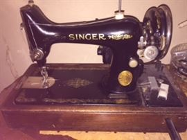 We have 3 Sewing Machines at this sale - The 2 Pictured are SINGERS - There is an older machine I don't have pictured yet AVAILABLE FOR PRESALE