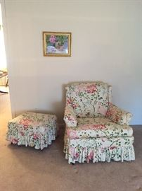 Chair & Ottoman, Matches Sofa AVAILABLE FOR PRESALE