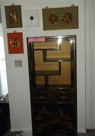 Asian style display cabinet