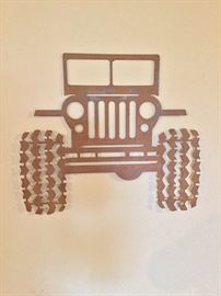Metal Jeep decor