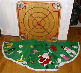 game board, xmas tree skirt