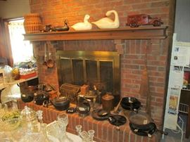 FIREPLACE ITEMS, CAST IRON