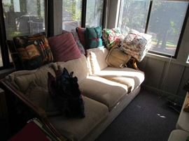 Sun porch sofa