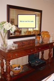 Console Table with Decorative Urns and Bowl