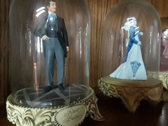 Franklin Mint Gone with the Wind figurines.
