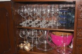 Stemware and Serving Pieces
