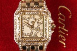 Very Rare Limited Edition 18K Gold Ladies Cartier Panthere Watch