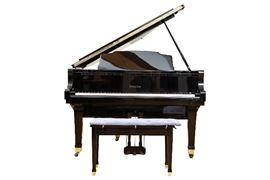 Wurlitzer G-452 Black Lacquered Baby Grand Piano With Pianocorder