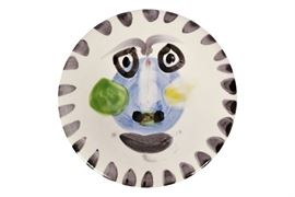 Picasso Madoura Glazed Earthenware Plate- Face No. 202