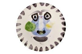 Picasso Madoura Glazed Earthenware Plate- Face No. 202