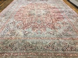 A Finely Hand Knotted Silk Kashan Carpet - 10' X 14', Apx $12,000 - $15,000