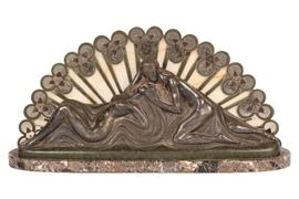 Charles Raphael Peyre (French, 1872-1949), Art Deco Relief Bronze