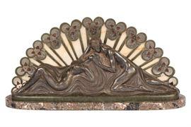 Charles Raphael Peyre (French, 1872-1949), Art Deco Relief Bronze