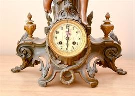 Art Nouveau Mantle Clock with Cherub
