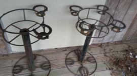 iron plant holders