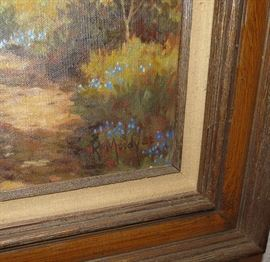 R. Moody Oil Painting signed 1982. Texas Bluebonnets