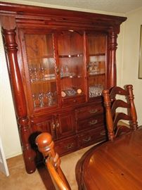 Gorgeous Singer Furniture Co lighted China cabinet