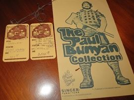 Original tags for singer Paul Bunyan collection Furniture retailed over 4000.00 dollars.
