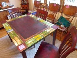 hand painted dining room/kitchen table