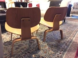 Pair of Eames (LCW) Molded Plywood Chairs. 2004