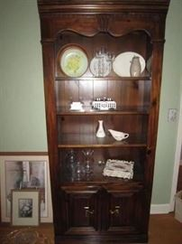 One of 3 matching bookcases, this one with lower cabinet