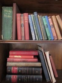 Many older books, some German language, fiction and nonfiction, hard and soft cover
