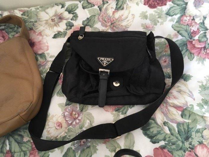 Prada bag, part of a collection of good modern and vintage handbags.