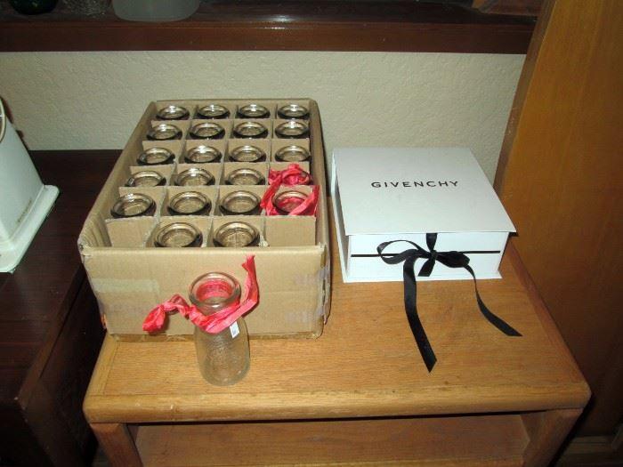 Basement:   Box of small bottles, White box