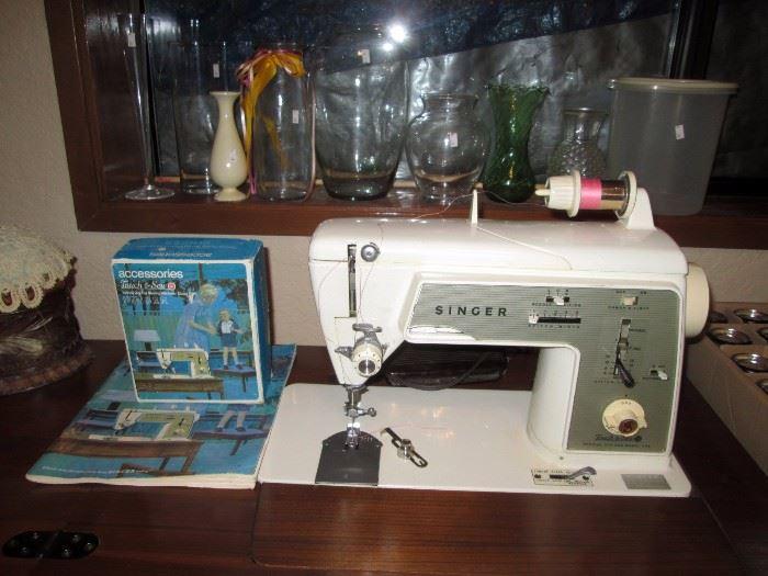 Basement:  Singer sewing machine