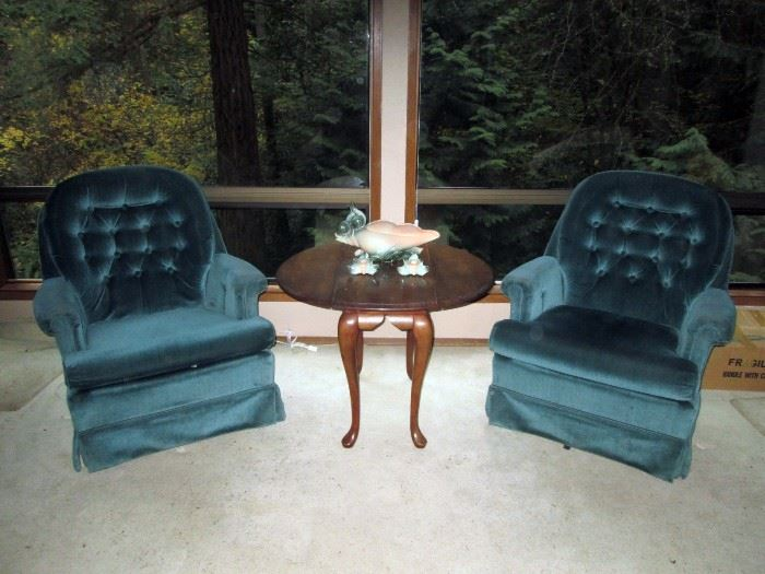 Living Room:  Pair of chairs, Table