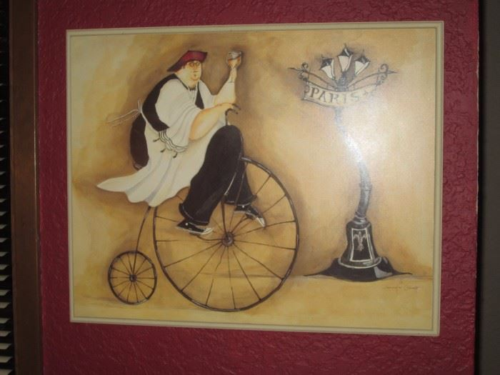 Kitchen:  Picture Man on Penny Farthing Bike