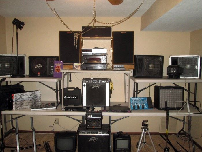 Basement:  (Start your own band) Amps, Speakers, etc.