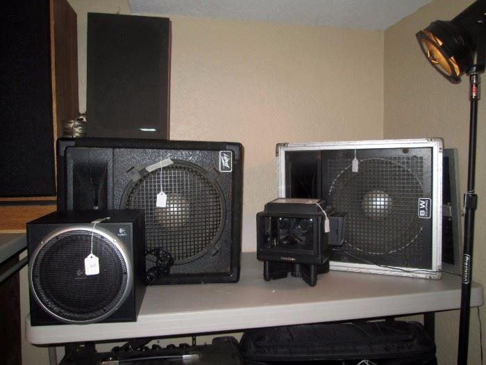 Basement:  Logitech Speaker, Peavery 1245m, PeaveyBE Equipt, Polar Star