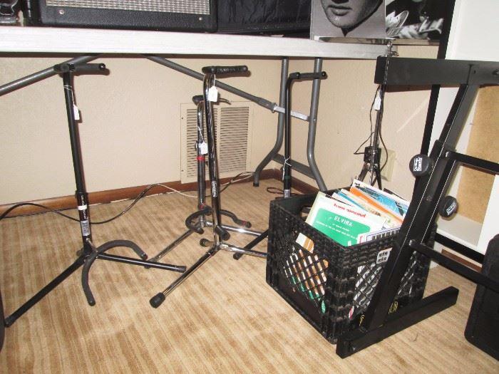 Basement: Guitar Stands, Sheet Music,